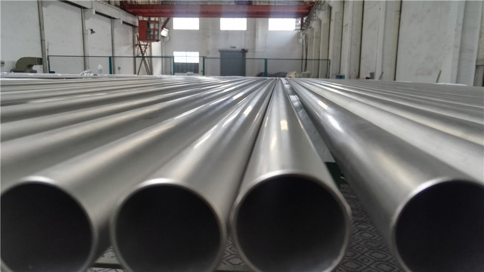 Cold Rolled Titanium Alloy Tube , Max Length 18m Small Diameter Titanium Pipe